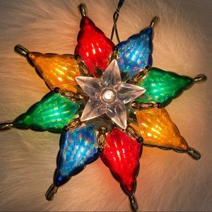 Colorful Christmas Star Light Tree Topper Vintage?
